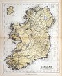 Old map of Ireland, 1870