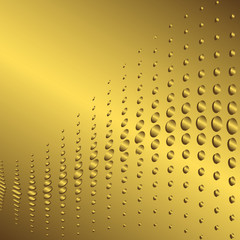Abstract golden frame with a place for the text (vector)