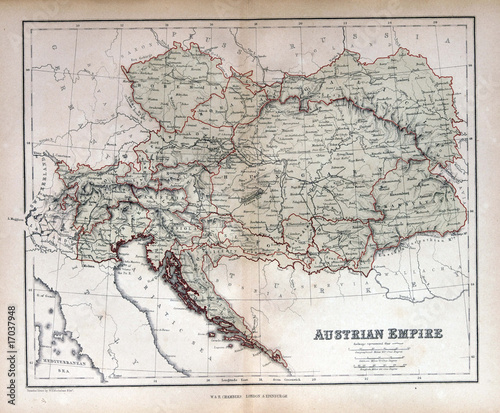 map of austria-hungary. Old map of Austria, Hungary,