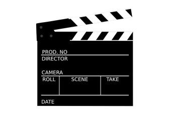 Filmklappe abstrakt