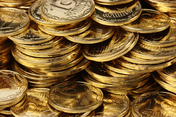 Golden coins background