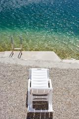 Chair in a tropical beach, relax concept