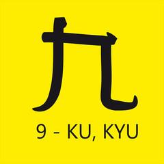 Nove Giapponese - KU, KYU
