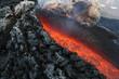 Nahaufnahme der Lavaaustritstelle am Vulkan Ätna Sizilien - 17044941