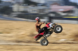 Extreme driver on quadbike poster