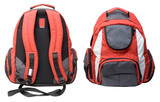 Fototapety Red-gray backpack isolated
