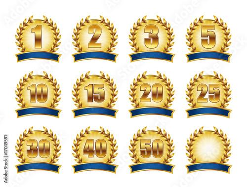 lorbeerkranz emblem - 17049591