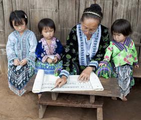 Schule in Asien, Unterricht bei Meo