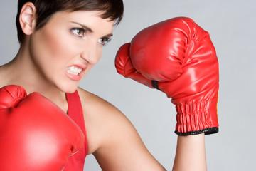 Angry Boxing Girl