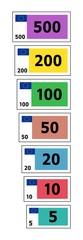 Spielgeld Euroscheine Vektor