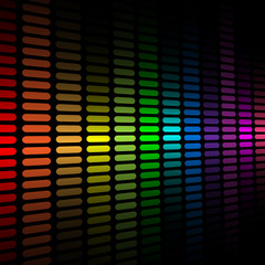 Vector background with abstract color spectrum equalizer.