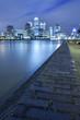 Thames and Canary Wharf skyline