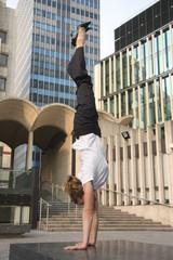Handstand - work life balance.