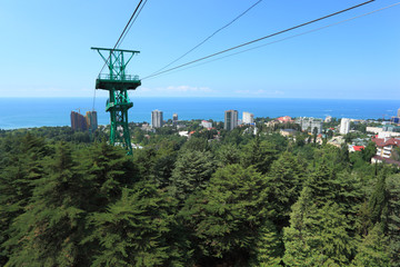 Cable car line in Sochi