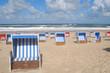 Strandkörbe am Strand von Wennningstedt auf Sylt