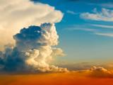 Fluffy cloud poster