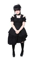 Gosurori Gothic Lolita Japanese Fashion with Clipping Path
