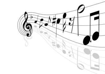 musical theme. vector