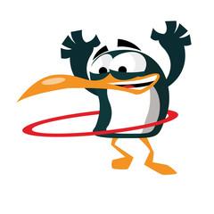 Pingouin hula hoop