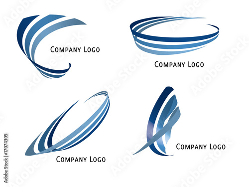 Set of four vector ribbons