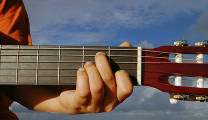 Guitar in the sky
