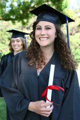 Pretty Woman Holding Diploma