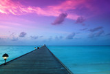 Fototapety Sunset in the maldives