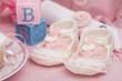 Fototapete Babyparty - Rosa - Schuhe