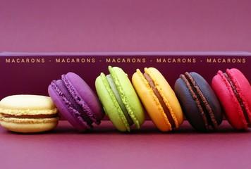 assortiment de macarons appétissants