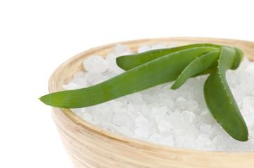 aloe vera.with bath salt