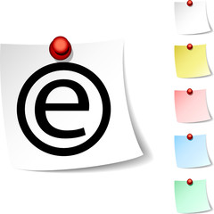 Enternet  sheet icon. Vector illustration