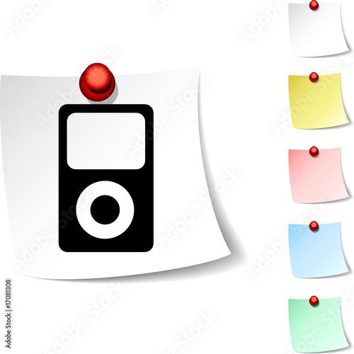 poster of Media  sheet icon. Vector illustration
