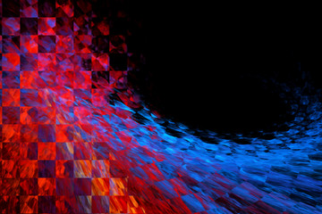 Abstract fractal futuristic background