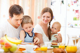 Fototapety Family breakfast