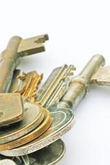 clos up keys on table