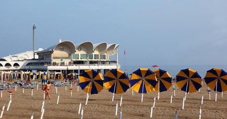 End of summer scene in Lignano