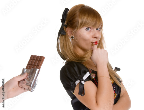 The girl and chocolate