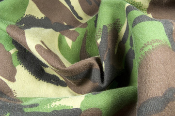 creased jungle camouflage background