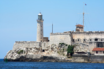 "The ""El Morro"" castle in the bay of Havana"
