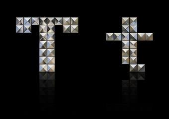 スタッズ・アルファベット t