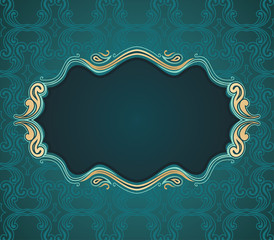 vector illustration a classical flourish frame ready for text