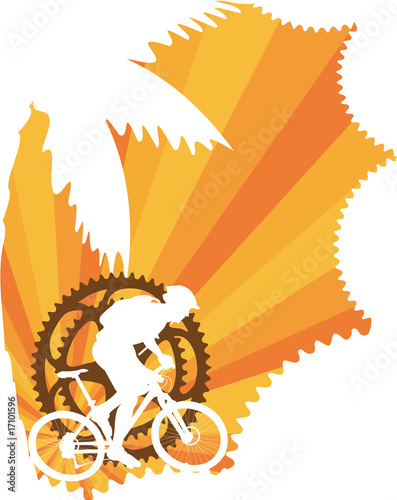 Mountain bike wallpaper. Crankset art