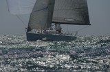Yacht competes in team sailing event, California