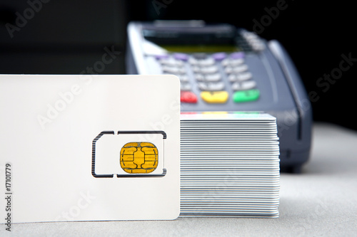 id card with chip and payment terminal