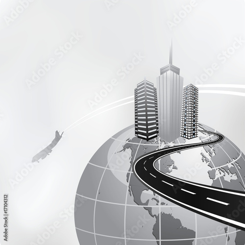 poster of business travel concept