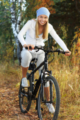Bicycling in the forest