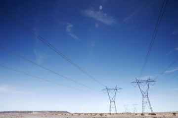 Electricty pylons, USA