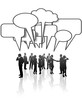 Communication Network Media Business People Team Talk