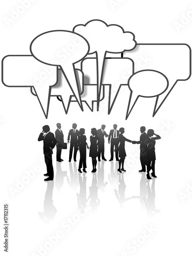 poster of Communication Network Media Business People Team Talk