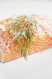 Salt cured salmon poster